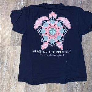 simply southern navy t-shirt